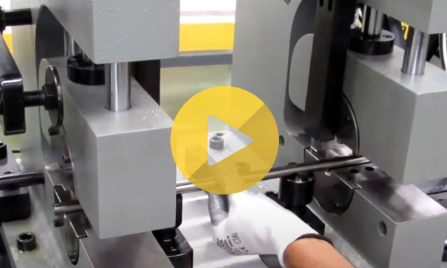Tube End Forming Machine – Double head tube end forming automotive parts MB60D