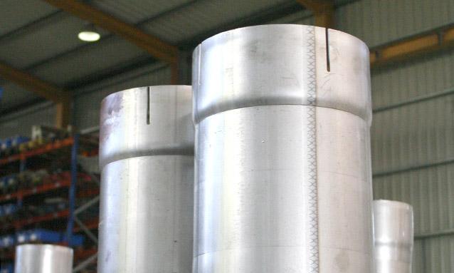 conformadoras-extremos-componentes de exaustão-industrial