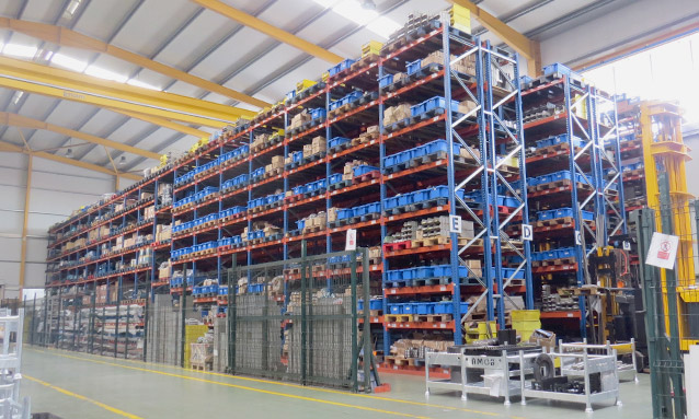 Image of AMOB production facilities in Portugal - Spare parts stock