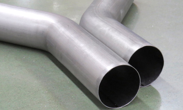 Image of Titanium inconel motorcycle exhaust - NC Tube bending-machine