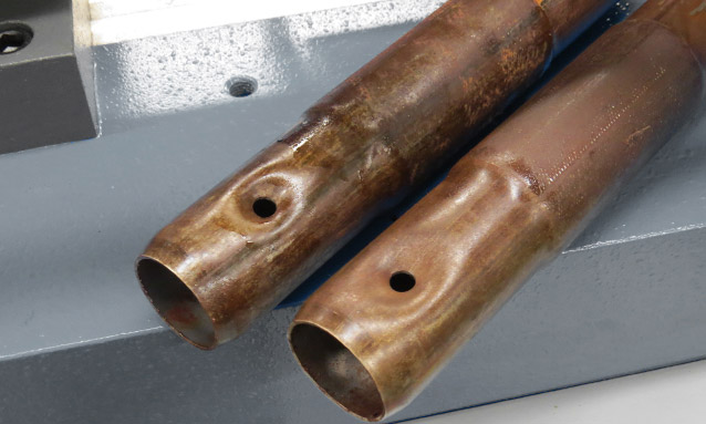 Image of Tube end former with punching device for Metallic structures