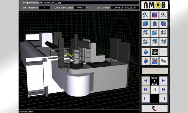 Image of Tube Bender Software - AMOBCNC - Anti-collision simulation