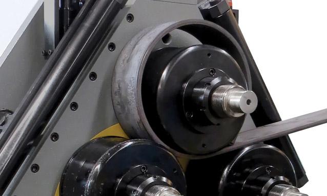 Image of Angle bending rolls MAH120 3AC Short radius flat bar bending