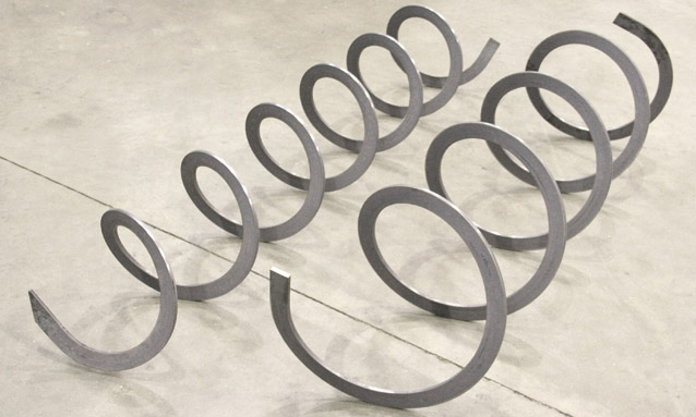 Image of Angle bending rolls spiral production snow blower blades
