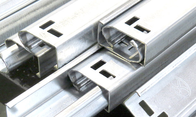 Image of Roll Forming - PF Series - Self drain walkways - Construction sector - J profile garage door tracks