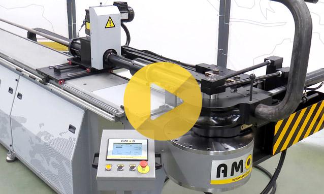 Watch the electric NC2 tube bending machine MDH90CN2