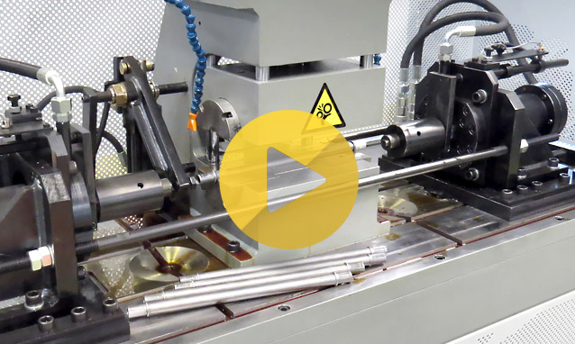 Watch the double head tube end forming machine MB60D