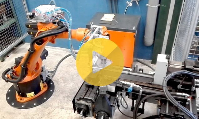 Watch the production cell tube bender CH35CNC