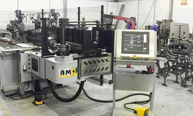AMOB delivers two fully electric tube bending machines to a leading automotive supplier