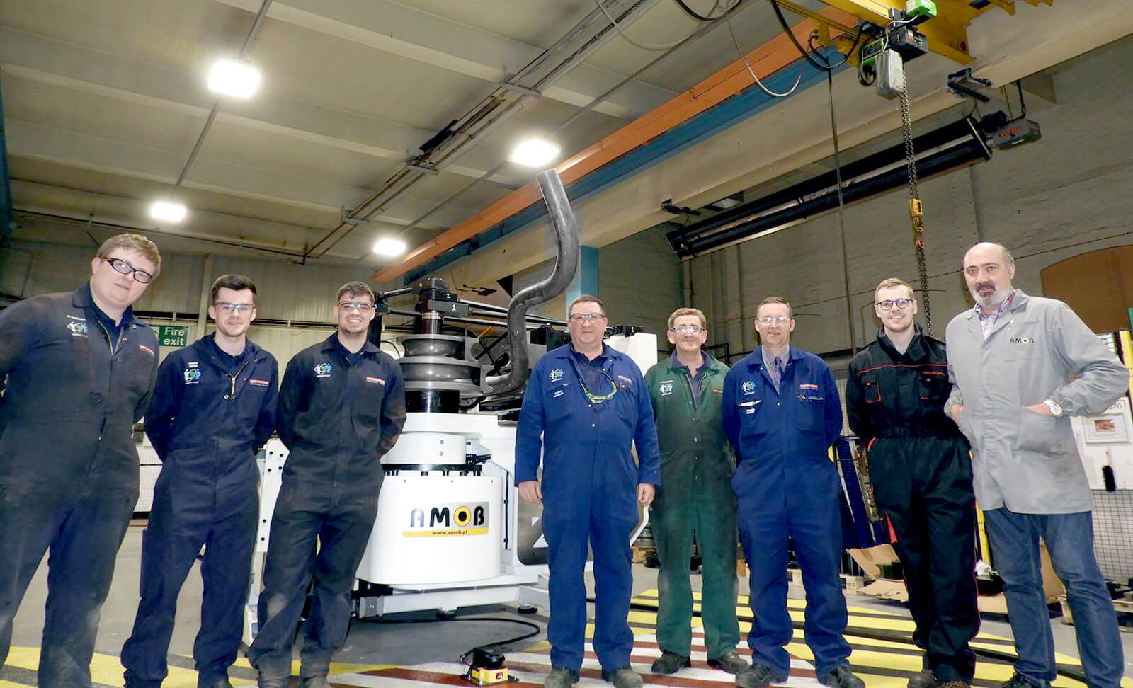 IMage of fully electric tube bender delivered at BAE Systems
