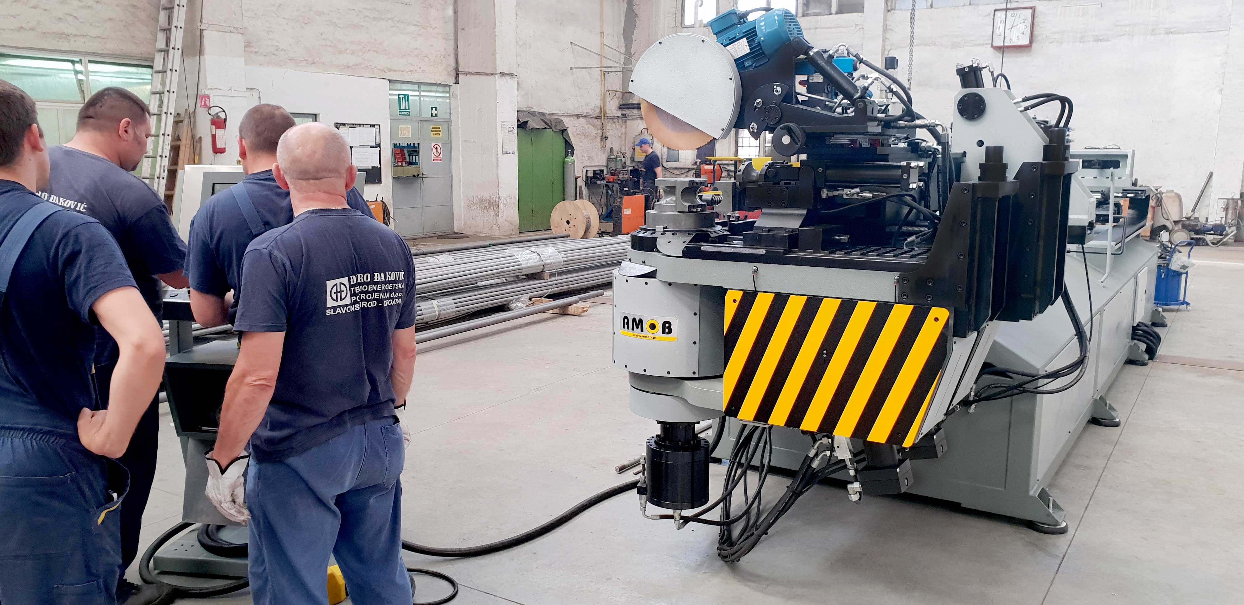 Image of Boiler Tube Bending Machines installation in Croacia