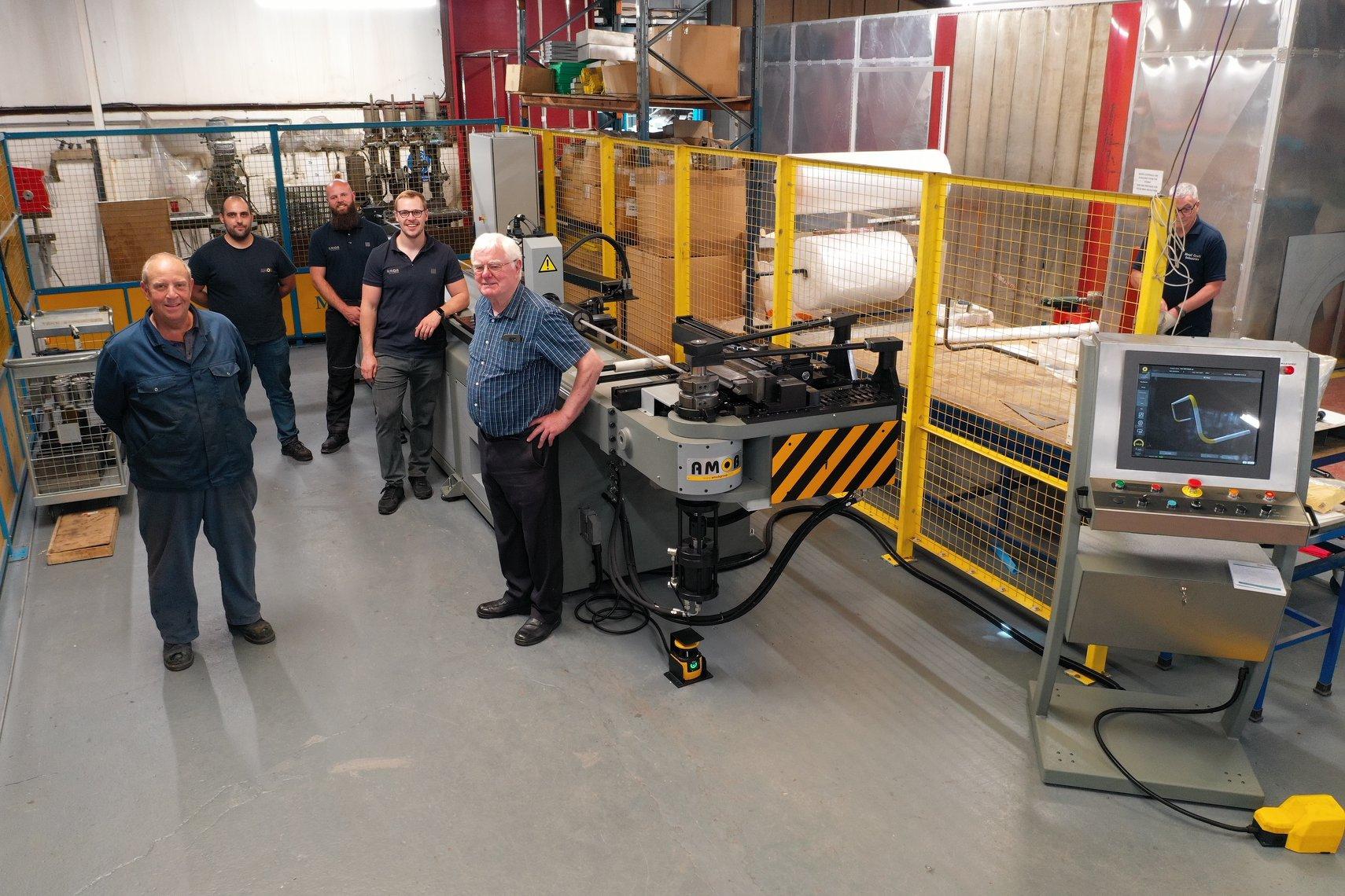 Metal Craft Industries UK and AMOB Tube Bending Machines